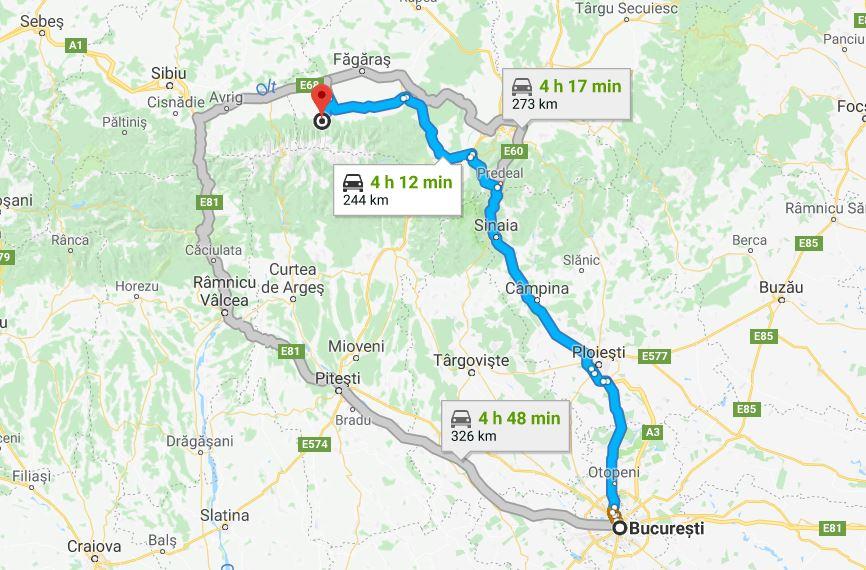traseu Bucuresti - Manastirea Brancoveanu